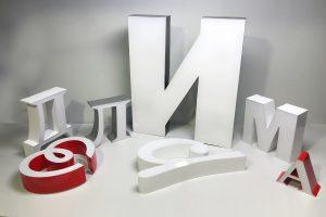 Изготовление объемных букв в Москве